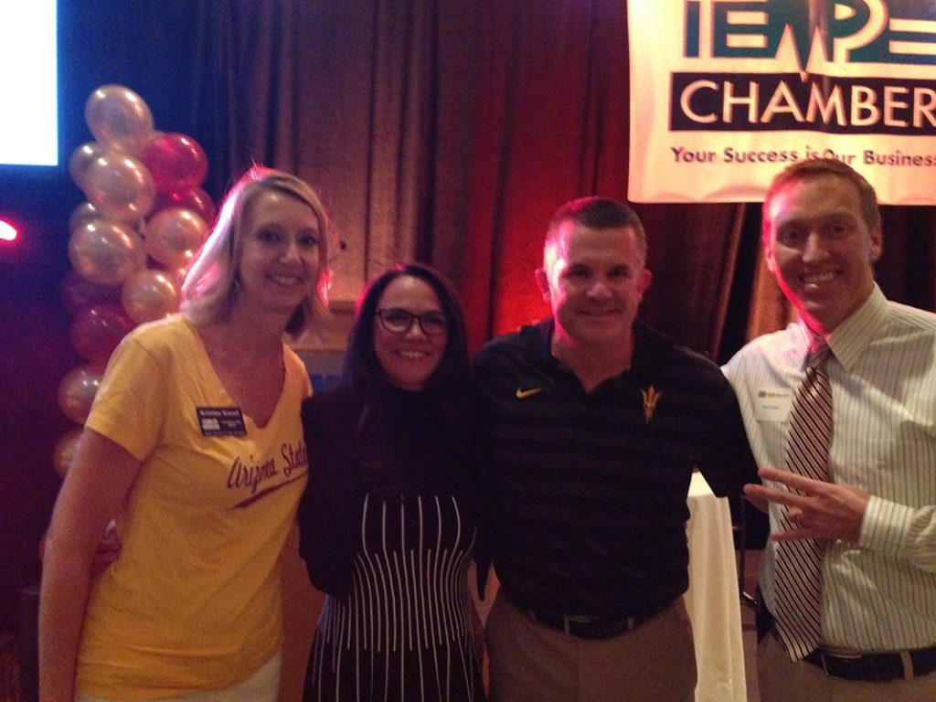 ASU Football Banquet with Coach Todd Graham and his wife and friend Asst Chief of police, David Humble